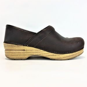 DANSKO 5.5-6/36 Brown Leather Clog Women